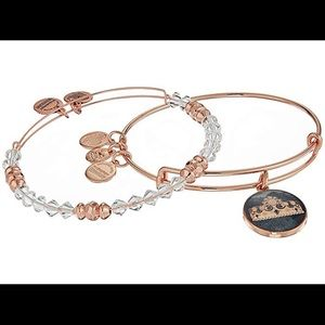 Alex and Ani Queen's Crown Art Infusion Bangle Set